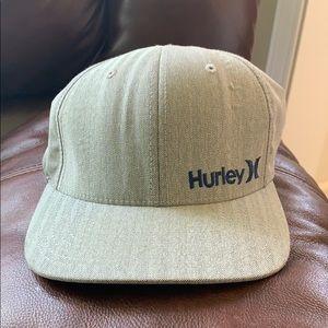 Hurley Flexfix Hat - Light Grey with blue logo